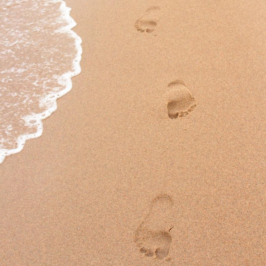 footprints of people